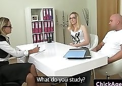 Casting agent has a threesome with clients