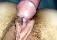 CREAM PIE PUSSY LIPS, Asian girl friend