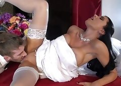 Cheating bride fucked by her hubby's friend