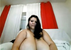 playing with monster tits