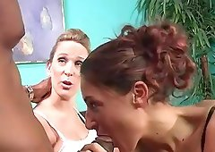 Jayma Reid and her GF get their holes smashed in interracial FFM clip