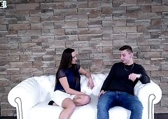 Horny Mea Melone and her friend like to play with a dick