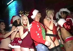 Holiday Parties ended in an orgy with lots of boobs and dicks