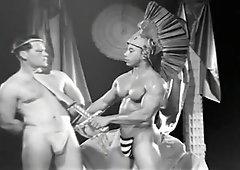 vintage wrestling black vs white