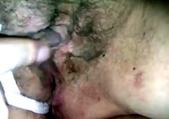 Close up homemade video with me fingering my wife's ugly cunt