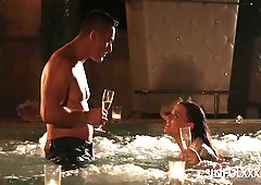 After party pool fuck with elegant babe Simony Diamond
