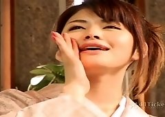 Asian girl sucking tiny Asian cock