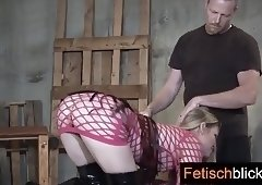 Fetisch play with wax magic wand & lots real pain for naked