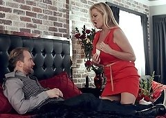 Lovely Kelly Madison offers her body to a fortunate lover
