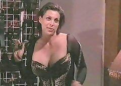 Beautiful Sydnee Steele in stockings seductively moaning when ravished