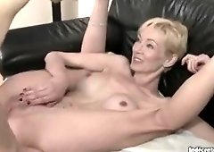 Enticing experienced lady in outdoor