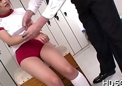 Toying and riding cock scene