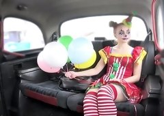 Driver Fucks Cute Valentine Clown