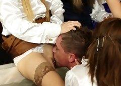 Incredible pornstars Leyla Black, Nia Black and Melanie Masters in exotic big tits, group sex xxx movie