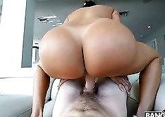 Amazing giant breasted babe Julianna Vega is fucked doggy so nice