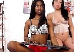 Ebony amateur interracial pov