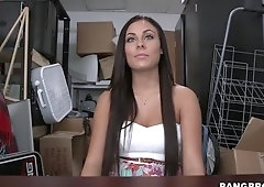 Racy brunette Gianna Nicole in happy ending casting video