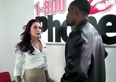 Black manhood penetrating the throat and pussy of Monique Alexander